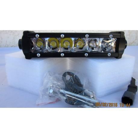 Barre 6 LEDs 30 Watts faisceau large
