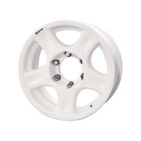 JANTE ALU RACER 8 X 16 5x127 ET10 CB71.6 / White/+ CACHE